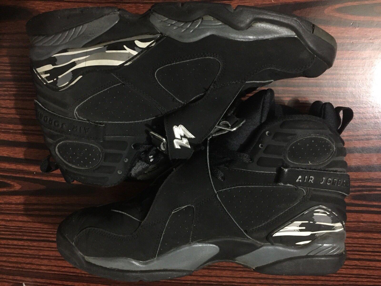 Air Jordan Retro VIII 8 Size 10.5 Black/Chrome White/Red XI Lot