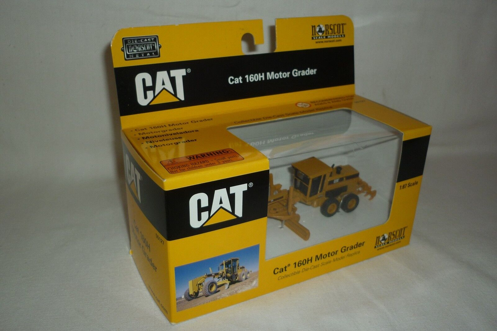 Norscot - Metal Model - Caterpillar Cat 160 H Engine Grader 1 87 Ovp (9.bm-25)