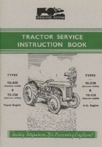 FERGUSON Tractor TE Owner/'s Manual 1947-1956