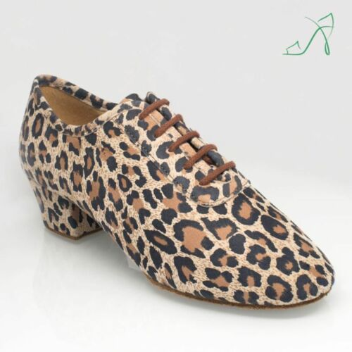 Ray Rose 415 Leopard Print Leather Teaching//Practice Dance Shoes