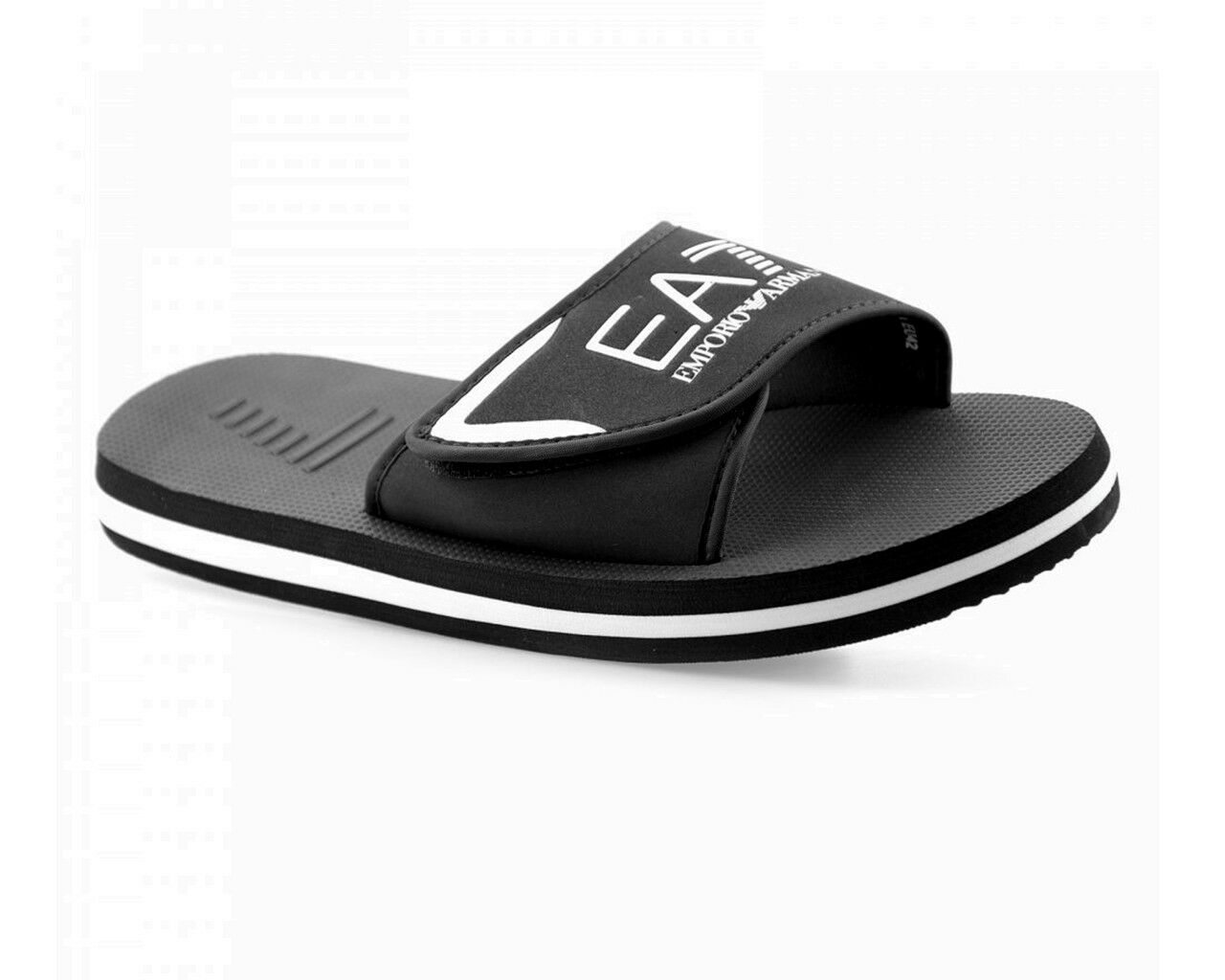 Emporio Armani XBP001 XCC09 Mar Mundo EA7 Deslizables Zapatillas de Playa Negro