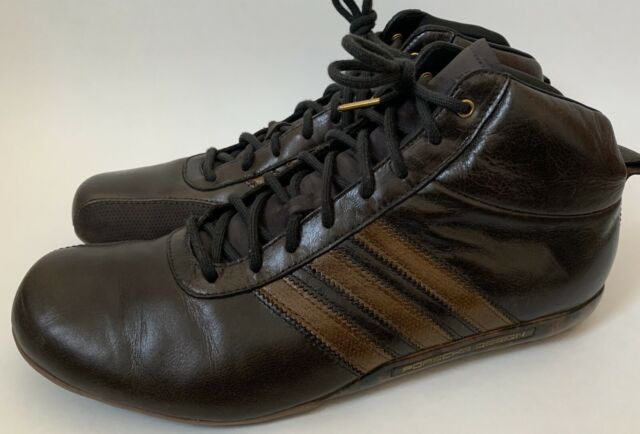 Porsche Design Adidas Men's US Size 10 Brown Leather and Suede Driving Shoes
