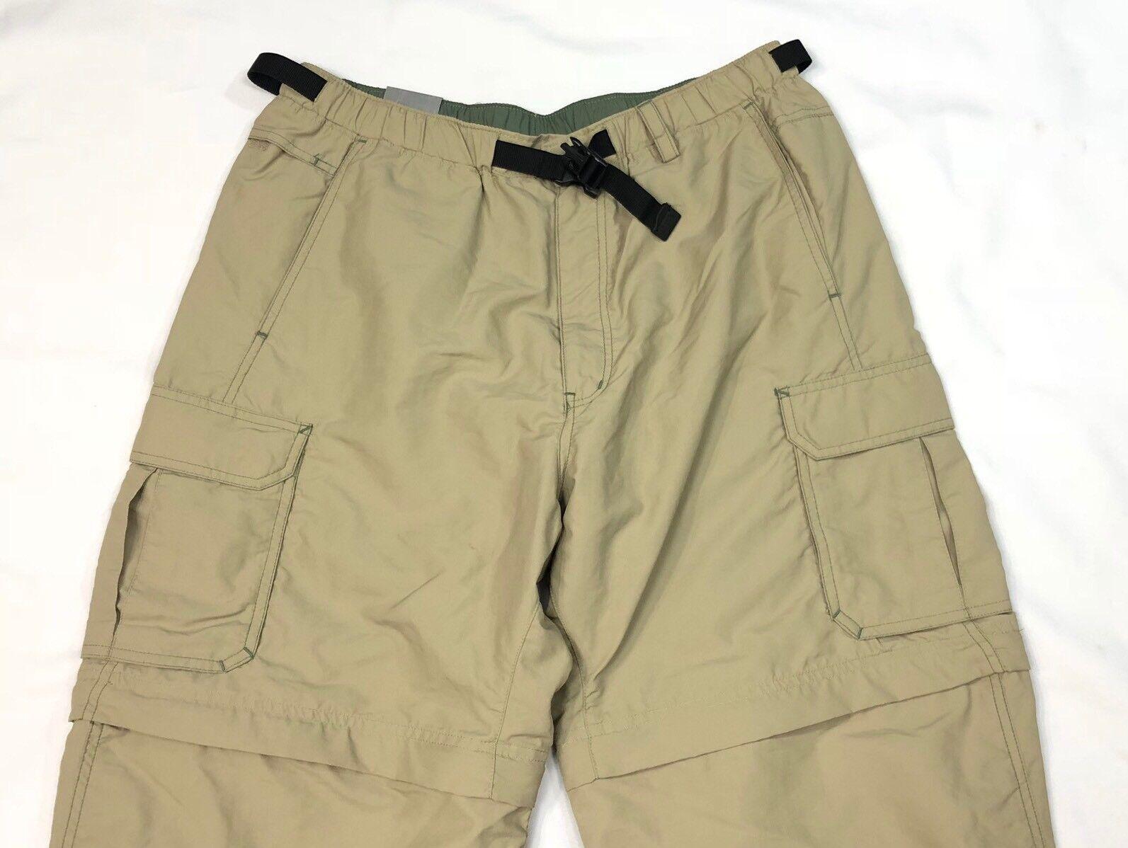 Nuevo con etiquetas Rei 6 bolsillos para senderismo para  hombre Pantalones de Color caqui Converdeible 32x30  entrega gratis