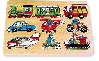 """cm 30x22 /""""Mezzi di trasporto/"""" Puzzle a incastro in legno /""""Traffico/"""""""