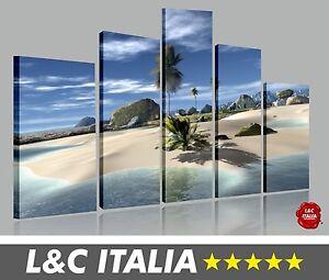 Paradiso beach 5 quadri moderni arredo casa ufficio stampa - Quadri per casa mare ...