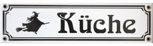 Küche  3406 Emailschild  Emailleschild Jugendstil 8 x 30 cm Hexen
