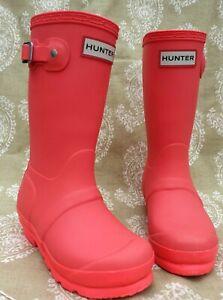 Girls Hunter wellington boots- Size UK kids 11 EU 29 ...