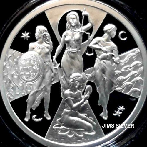 Silver PROOF w// COA /& BOX IN STOCK! 2019 Silver Shield ESOTERIC VIRTUES 1 oz