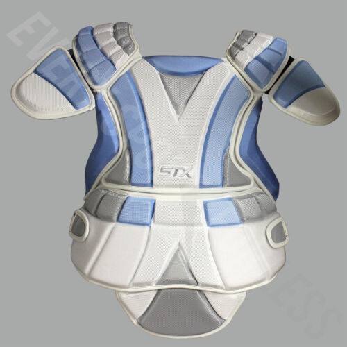 White//Blue//Grey STX Sultra Women/'s Lacrosse//Field Hockey Chest Protector NEW