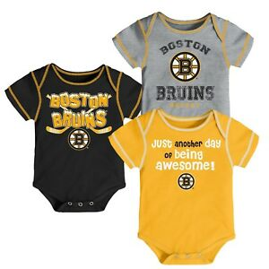 920d2cd91 12 Month Toddler Boston Bruins Boys NHL 3 Piece Creeper Set Bodysuit ...