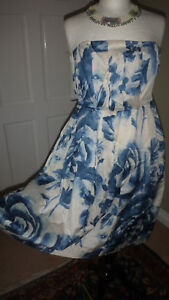 Atmosphere-Primark-Ladies-Blue-Multi-Dress-Casual-Holiday-Party-Size-12