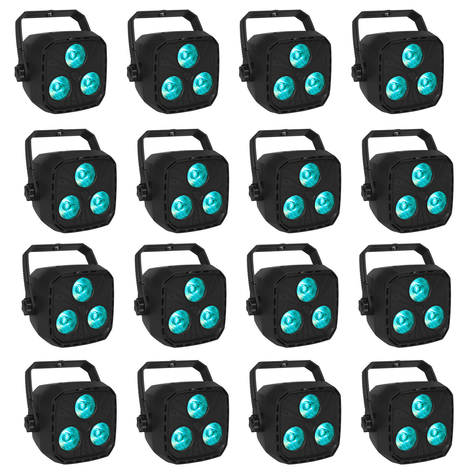 16 Pack Par Kann RGBW Led DMX512 Sound Activated Wedding Wall Washing