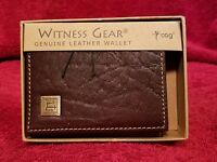 Witness Gear Genuine Leather Tri-fold Wallet Brown -