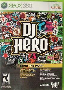 DJ Hero (Xbox 360, 2009, Game Only)