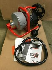 New Ridgid 71722 K 40 Af Sink Machine With 516 Cable And Autofeed System