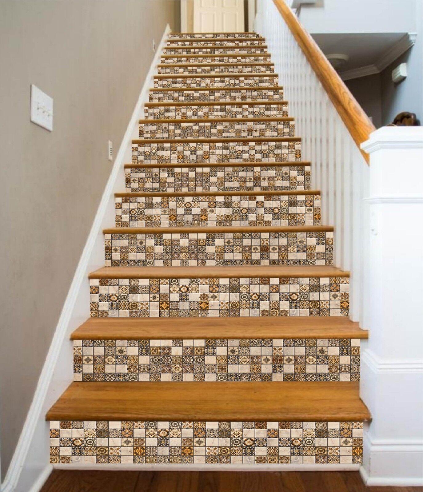 3D Metope Blaume 7 Fliese Marmor Stair Risers Fototapete Vinyl Aufkleber Tapete