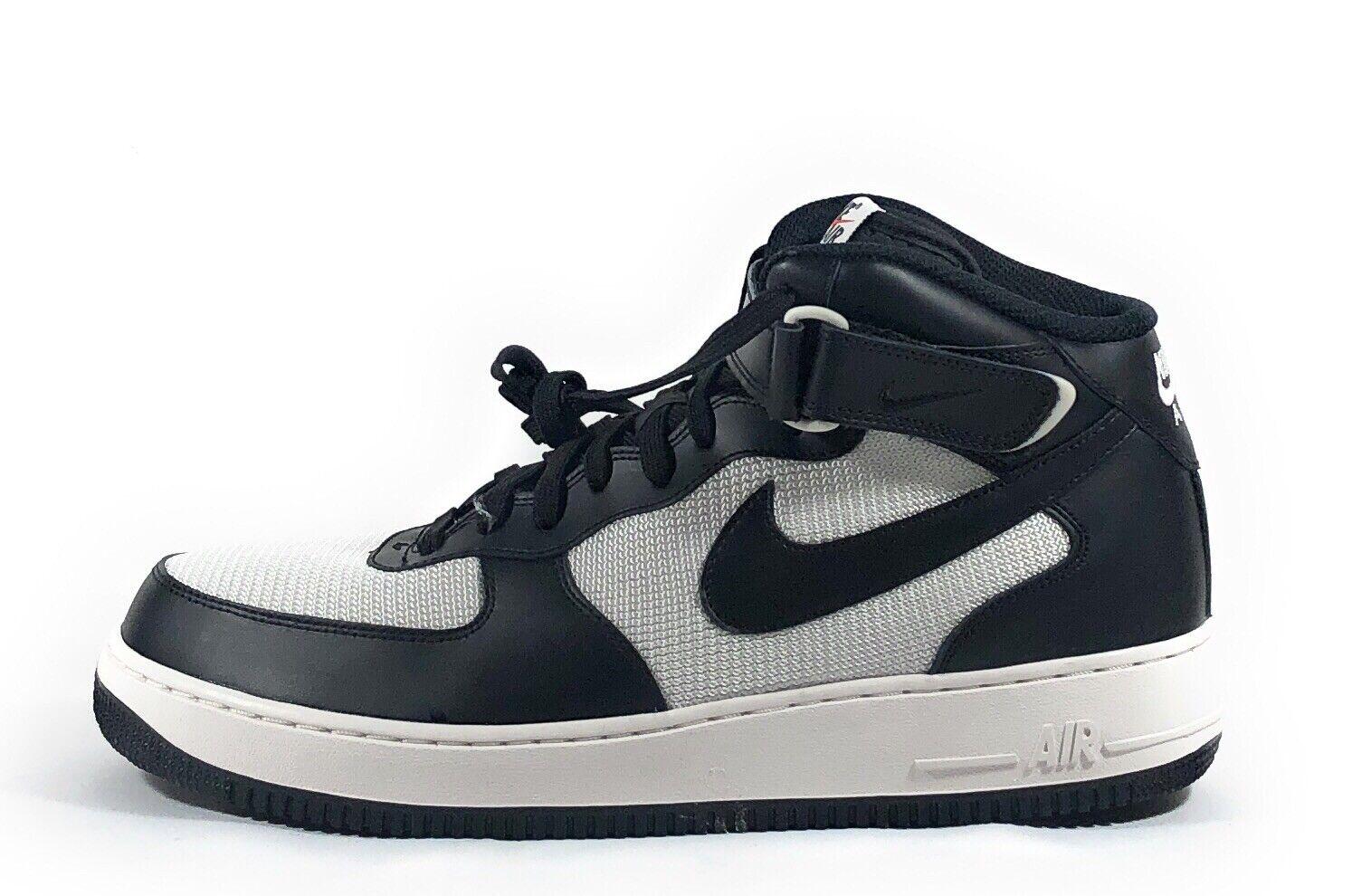 Nike Nike Nike Air Force 1 Uomo Mid Top nero bianca Basketball scarpe da ginnastica 315123-037 Sz 13 251380