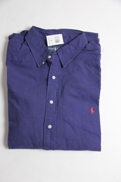 Ralph Lauren Oxford Blau Shirt Small Pony 2XB 2X Big Classic Fit