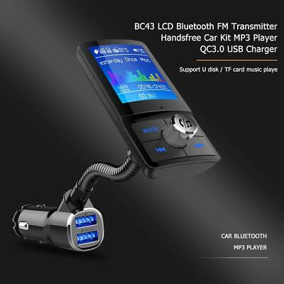 Handsfree Bluetooth Car Kit FM Transmitter LCD MP3 Player USB QC3.0 Charger