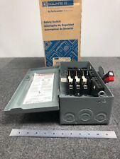 Square D 30a600v Safety Switch Disconnect Model Hu361
