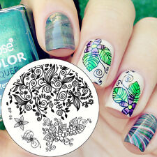 Nagel Schablone BORN PRETTY Nail Art Stamp Stamping Template Plates BP 56
