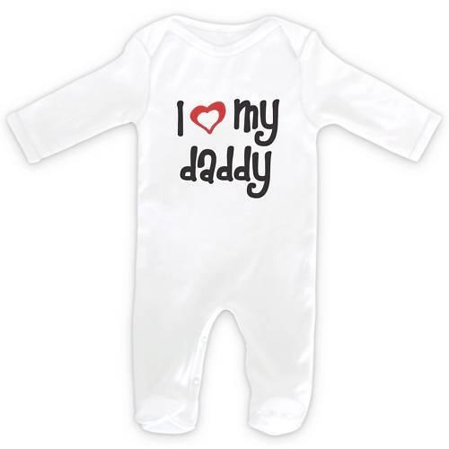 0-18months I LOVE MY DADDY Baby SleepSuit Romper