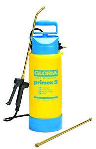 gloria primex 5 spritze druckspr hger t spr hger t 3 bar 5 liter ebay. Black Bedroom Furniture Sets. Home Design Ideas