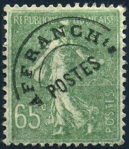 FRANCE-SEMEUSE-65c-OLIVE-PREO-N-49-UTILISE
