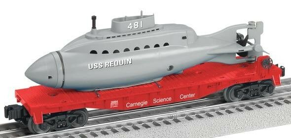 2013 Lionel 26694 autonegie Science Center Flatauto with Submarine Submarine Submarine nuovo IN THE scatola 27cc54