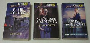 Lot-of-3-Love-Inspired-Suspense-Amish-Paperbacks-Inspirational-Romance
