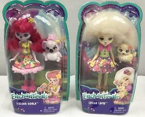 "enchantimals karina koala doll 6/"" /& lorna lamb       *** lot of 2 ***"