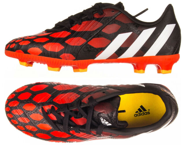 online store bfad5 69134 Adidas Boys Kids Junior Predator Predito Instinct Football Boots Black Red  New