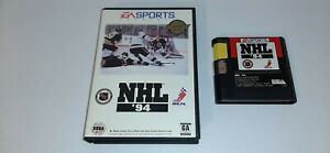 NHL-94-Hockey-For-The-Sega-Genesis-System-Rare-Game-Tested-Works-With-Box-1994