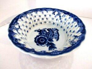 Vintage-Asian-Porcelain-Lattice-8-034-Bowl-Blue-and-White