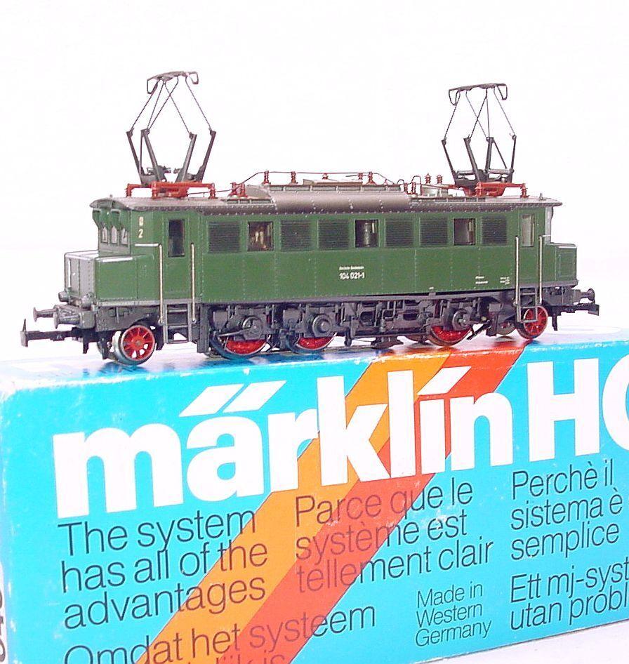 Marklin AC HO 1 87 German DB BR 104 Heavy ELECTRIC LOCOMOTIVE NMIB`80 RARE