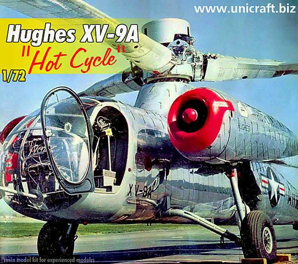 Unicraft 72103 - Hughes XV-9A   Hot Cycle   - 1 72