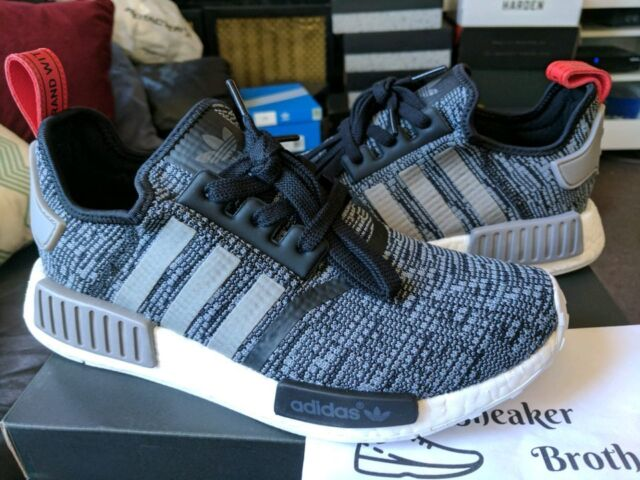 c2a4d8301a6 Adidas NMD_R1 Runner Nomad Boost Glitch Camo Cargo Black Solid Grey Red  BB2884
