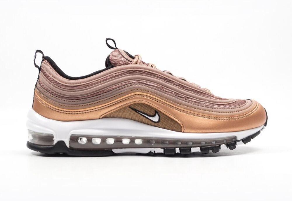 Nike Air Max 97 Baskets Métallique Bronze Rouge UK7/EU/41/US8 921826 200-