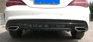 Parachoques-Trasero-Falda-Bajo-Difusor-con-Aletas-Ribs-para-Mercedes-CLS-W218