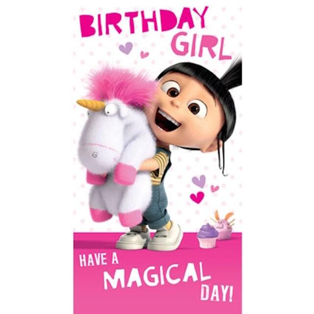 Despicable Me Minions Birthday Girl Card De045 Ebay