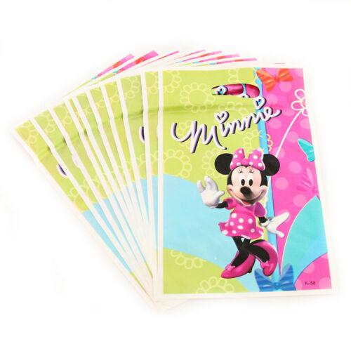 Minnie Mouse Feliz Cumpleaños Fiesta De Niños Bolsos Bolsa de botín