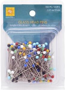 EZ-QULTING-SEWING-DRESSMAKING-GLASS-HEAD-PINS