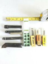 Assorted Indexable Lathe Tool Holders Lot Of Various Brands Cnc Amp Carbide Lot