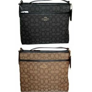 Coach-Signature-File-Bag-Crossbody-Jacquard-Purse-Handbag-Messenger-F29960