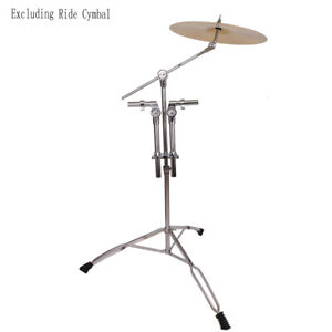 Professional-Pedal-Control-Style-Double-Tom-Drum-Stand-Cymbal-Boom-Mount-Arm-USA