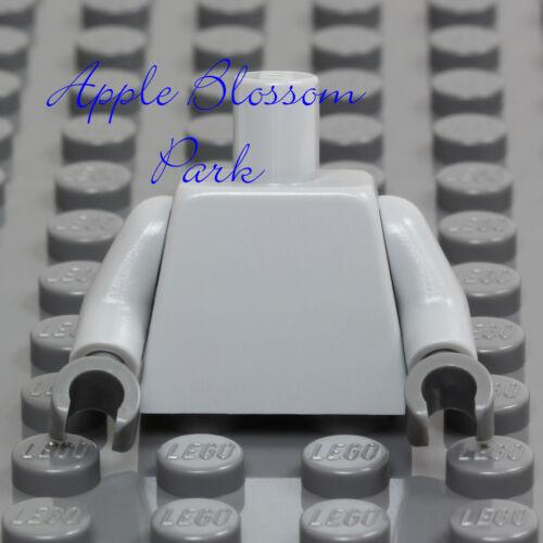 NEW Lego Minifig Plain LIGHT BLUISH GRAY TORSO Dark Hands Blank Minifigure Upper