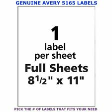 Avery Trueblock Laser Shipping Labels 85 X 11 5165 Pick Your Own Of Label