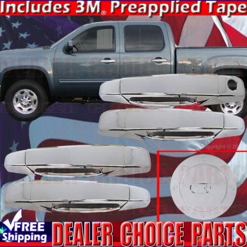 2007-2014 SUBURBAN TAHOE Chrome Door Handle Gas Fuel Cap COVERS 4DR W//Bowl Inc