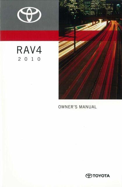 2010 toyota rav4 owners manual user guide ebay rh ebay com 2010 toyota rav4 owners manual pdf 2010 toyota rav4 owners manual pdf