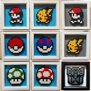 Details about Custom Framed Lego Pixel Art - Pokemon Mario Nintendo Star  Wars etc 16-bit Games